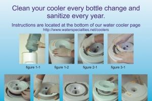 Cooler sanitization