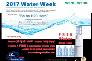 2017 Water Week 5 gallon bottled water promo