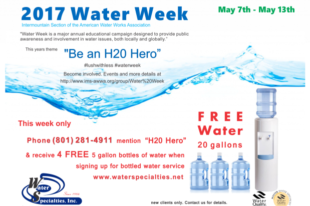 2017 Water Week 5 gallon bottled water promo